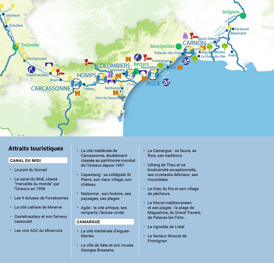 canal du midi map pdf