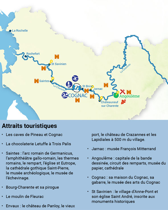 Tourist attractions in Charente